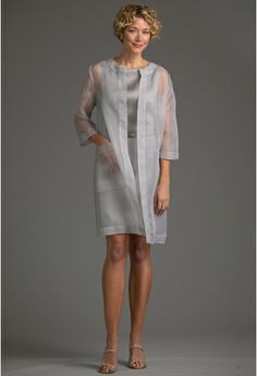 33cc9867e25 Valentina Coat - Hepburn Dress - Mother of the Bride Separates - Siri Inc  Grey Fabric