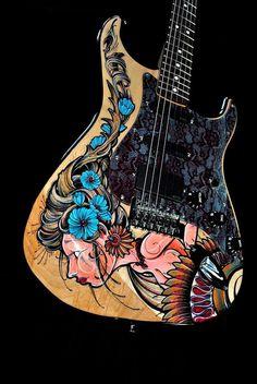 Burlesque Girl by SoapboxGuitars on Etsy, $6000.00 - <3'd by Stringjoy Custom Guitar & Bass Strings. Create your custom set today at Stringjoy.com #guitar #guitars #custom #music