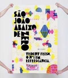 TRIDENT • fresh - fuku Honda Accord, Honda Civic, Brave, Typography Design, Lettering, Shell, Poster Prints, Posters, Poster