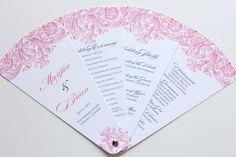 Wedding Program Petal Fans by blushpaperie on Etsy