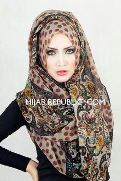 Hijab scarf pashmina shawl veil hood muslim hijaber hijab republic atika sari