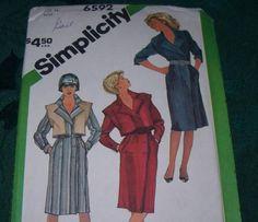 Simplicity Vintage Dress Pattern 6592 Size 14 by vintagecitypast on Etsy