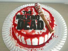 Tarta The Walking Dead fondant Cake Lucille http://www.facebook.com/endulzateysefeliz