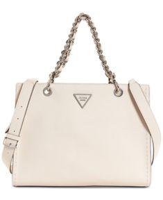 39481bde5a Guess Sawyer Medium Satchel - Tan/Beige Satchel Handbags, Handbag  Accessories
