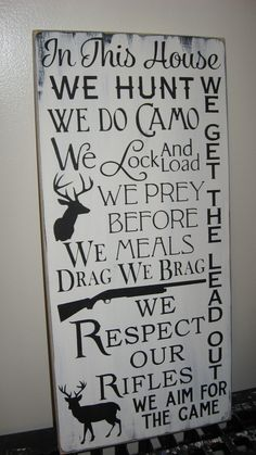 You Pick Color In This House We Hunt Family by CottageSignShoppe, $75.00