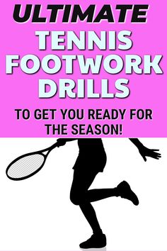 These tennis drills are perfect for helping you improve your footwork on the tennis court. Add this to your tennis practice with others or by yourself to improve speed and agility on the court. Tennis Equipment, Tennis Gear, Tennis Tips, Sport Tennis, Tennis Doubles, Tennis Match, Tennis Techniques, How To Play Tennis, Tennis Funny