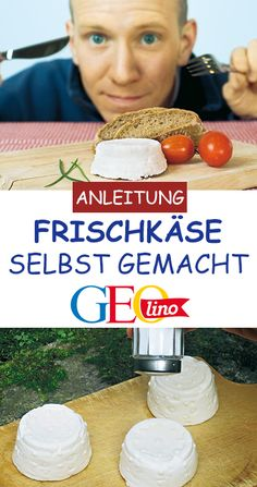 Makes cream cheese yourself!, With a few ingredients you can make home-made cream cheese yourself! At GEOlino.de you will learn step by step how to do it. Have fun! Kefir Benefits, Kefir Recipes, Make Cream Cheese, Few Ingredients, Smoothie Recipes, Food And Drink, Homemade, Snacks, Cooking