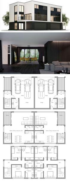 Duplex House Plan CH362D