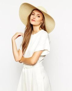whistles sombrero con ala ancha de paja natural claro #accessories #beauty #natural #hat #nature #covetme