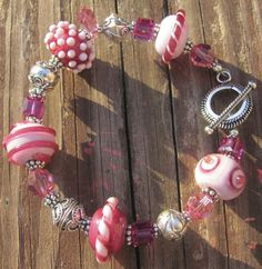Pretty in Pink lamp glass bracelet - Trader Rick's for the artful woman