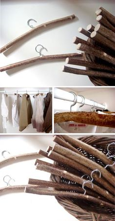 wooden hangers for country weddings