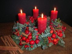 Advent wreath idea (with correct candle colors)