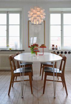 Interiores de departamentos: comedor en estilo nordico