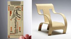 bentply business card transforms into chair by richard c. evans - http://richardcevans.com