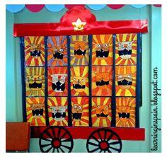 Circus theme art: Lions wagon Mahtava luokan kokonaisuus tulee tällä tavalla.