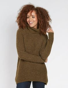 Buy Loxley Jumper today from FatFace. Fat Face, Teen Wolf, Knitwear, Jumper, High Neck Dress, Profile, Turtle Neck, Fire, Model