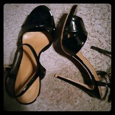 Sold Tory Burch stiletto 10.5 black patent ankle strap 110mm heel Tory Burch Shoes