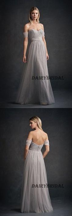Sweet Heart Bridesmaid Dress, Tulle Bridesmaid Dress, A-Line Bridesmaid Dress, Cheap Bridesmaid Dress, Backless Bridesmaid Dress, #dairybridal #bridesmaid