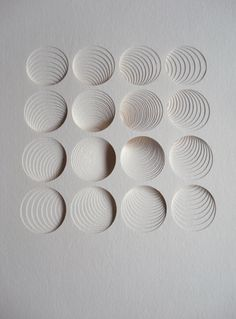 Matt Shlian's paper art is something that we would love to see rendered in plaster!