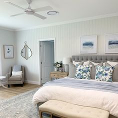 Interior Styling, Interior Decorating, Blue Colour Palette, White Cushions, Transitional Rugs, Coastal Homes, Beautiful Bedrooms, Home Goods, Furniture