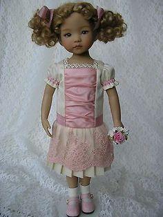 "Sateen Silk Dress for 13"" Dianna Effner Little Darling Doll Handmade Tomi Jane | eBay. Ends 7/15/14."