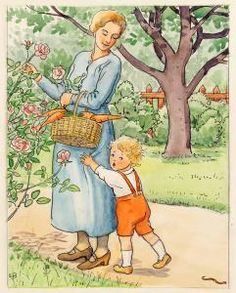 Elsa Beskow.  Swedish artist/writer.