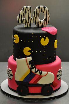 Roller-skate cake