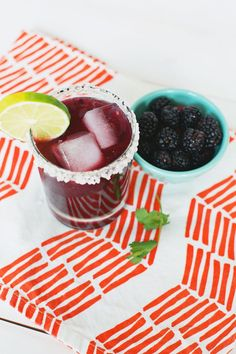 Blackberry Cilantro Margarita (so yum!)