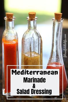 Make a simple Mediterranean olive oil salad dressing to flavor salads, vegetables, or as a marinade for chicken, pork or even salmon. Mediterranean Diet Menu Plan, Mediterranean Salad Dressing, Med Diet, Keto Friendly Desserts, Dash Diet, Salad Dressing Recipes, Diets For Beginners, Vegan, Hot Sauce Bottles