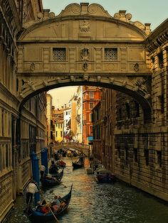 Bridge of Sighs, in Venice, Veneto, Italy. Its name is derived from the legend that one could hear the sighs of the condemned as they were being brought to the prison cells, seeing the beauty that is Venice for the last time.    Another, happier legend is that those who kiss under the bridge, await eternal bliss.