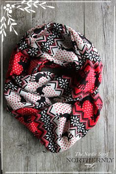 Winter Nordic Scarf - Infinity Scarf