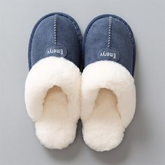 Home Slippers Winter Warm Shoes Bathrooms Plush House Slippers Fur Comfortable Winter Slippers, Cute Slippers, Heel Boots For Women, Types Of Shoes, Womens Slippers, Comfortable Shoes, Casual Dresses For Women, Plush, Warm