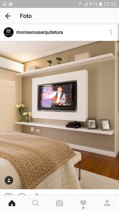 Browse home theater design and living room theater decor inspiration. Discover designs, colors and furniture layouts for your own in-home movie theater. Home Bedroom, Bedroom Decor, Light Bedroom, Design Bedroom, Bedroom Wall, Bedroom Ideas, Tv Wall Design, Master Room, Home Theater Design