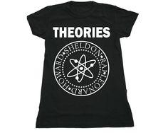 "Camiseta ""Theories"" da www.mypoptee.com.br #tbbt"