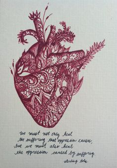 Anatomical Heart Henna Heart Love Postcard by ChamchiChamchaCrafts, $6.00