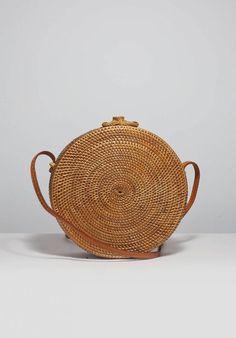Round Circle Rattan Basket Bags from Bali