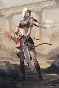 Desert archer | female, woman, girl, character design, gaming,