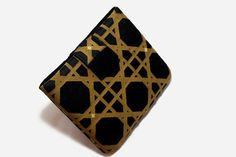 Hand Crafted Tablet Case from Black and Gold Geometric Fabric/Case for: iPadMini, Kindle Fire 7,Samsung Galaxy 7, Google Nexus, Nook HD 7 #clutch #foampadded #tabletcase #tabletcover #ipadmini #kindlefire #christmasgift