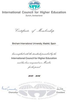 The International Council for Higher Education is a global body pursuing excellence in academic programs and promoting sustainable and integrated model of higher education, particularly in countries where educational opportunities are restricted or are in need of development for nation building.