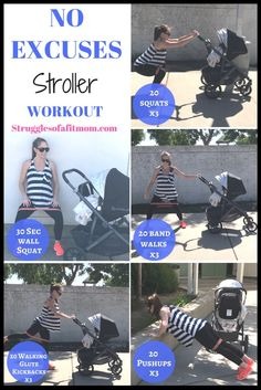 Weeks Fit Pregnancy Update - Struggles of a Fit Mom - No excuses stroller workout. Get moving with kids and maximize your walks with these super effectiv - Post Baby Workout, Post Pregnancy Workout, Mommy Workout, Squat Workout, Postnatal Workout, Fit Pregnancy, Pregnancy Weeks, Pregnancy Fitness, Pregnancy Cartoon