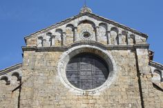 Volterra, Tuscany, the Duomo. the capitals of the pilasters in the gable are exquisite in their romanesque simplicity.