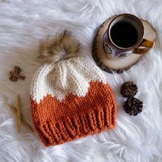 Crochet Beanie Pattern, Loom Knitting Patterns, Knitting Projects, Crochet Patterns, Knit Crochet, Irish Crochet, Baby Hats Knitting, Knitted Hats, Super Bulky Yarn
