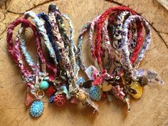 Little plaited bracelets with charms. For local Cotswolds Christmas markets.