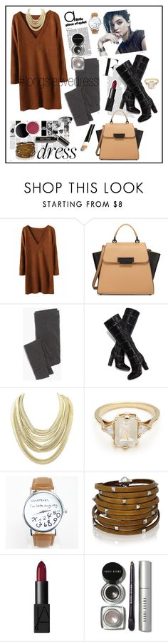 """Winter Up with Long Sleeve Dresses"" by fashiontake-out ❤ liked on Polyvore featuring ZAC Zac Posen, Madewell, Tom Ford, Chanel, Kendra Scott, BEA, Sif Jakobs Jewellery, NARS Cosmetics, Bobbi Brown Cosmetics and cardigan"
