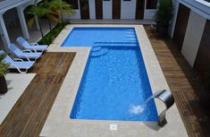 Ideas For Backyard Patio Steps Landscapes Backyard Pool Designs, Small Backyard Pools, Small Pools, Swimming Pools Backyard, Swimming Pool Designs, Pool Landscaping, Backyard Patio, Patio Design, Dipping Pool