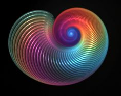 rainbow shell..man made images are pretty in rainbows too..