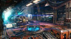 ArtStation - Rick Future - the adventure game demo art dump - Engine Room , Berker Siino