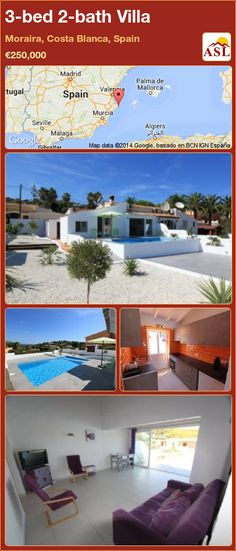 3-bed 2-bath Villa in Moraira, Costa Blanca, Spain ►€250,000 #PropertyForSaleInSpain