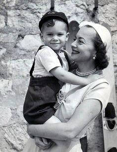 Olivia de Havilland and son Benjamin