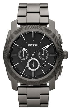 Fossil 'Machine' Chronograph Bracelet Watch, 45mm (Save Now through 12/9) available at #Nordstrom